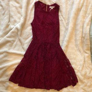 XS maroon francescas's dress